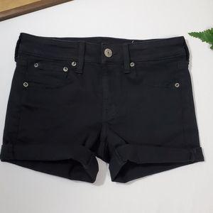 AE Midi Shorts Black Denim. NWOT